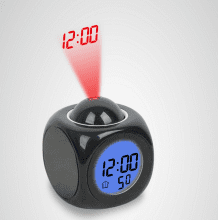 LCD Voice Talk Projecting Alarm Clock