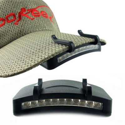 11 LED Cap Light Outdoor Hat Clip-on Cycling Headlamp
