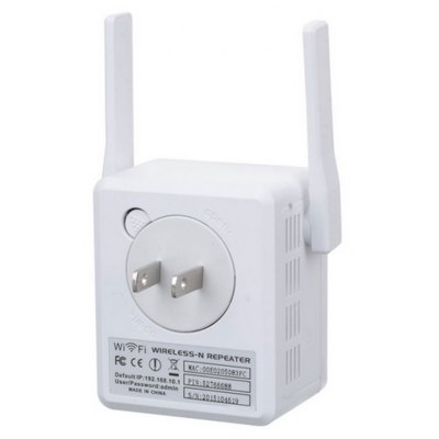 Mini WiFi Repeater 300M Dual Antennas Signal Booster