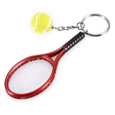 Keychain Tennis Rocket Pendant Popular Creative Young Style