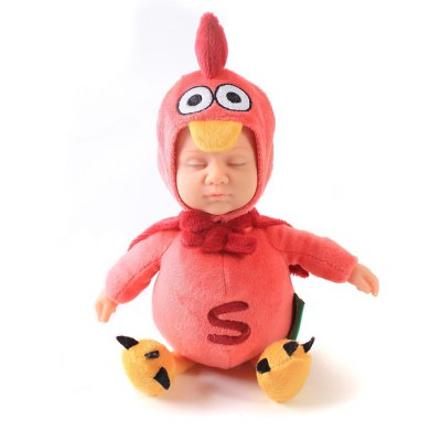 Simulation Reborn Doll Toy in Chicken Style Clothes