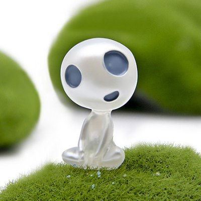Luminous Cartoon Style Resin Doll Toy for Potted Flower