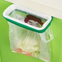 Portable Plastic Trash Storage Bag Hanging Holder Rack
