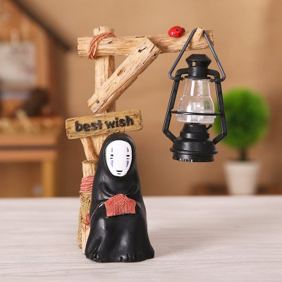 No Face Cartoon Character Style Resin Night Light Toy