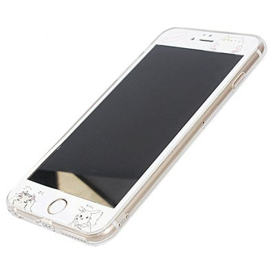 Slim TPU PC Phone Case for iPhone 6 / 6s Dust Plug Mobile Cover