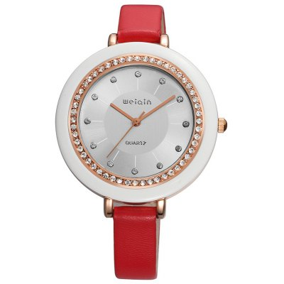 WeiQin W4386 1091 Female Rhinestone Embedded Watch