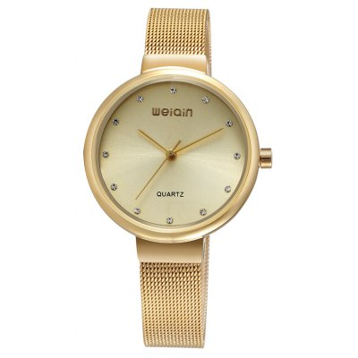 WeiQin W484304 1090 Female Simple Diamond Embedded Watch