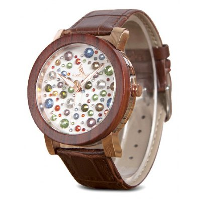 BOBO BIRD J04 Genuine Leather Band Women Watch