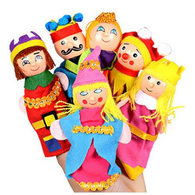 Finger Puppet with Mini Characters Style 6PCS