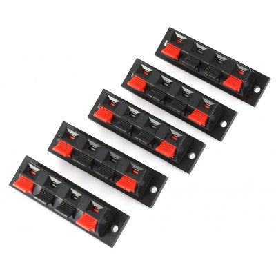 WP4 - 7 AC 50V / 3A Outwird Loudspeaker Terminal 5PCS