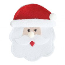 Cute Santa Shaped Forks Knives Holder Creative Flatware Cover