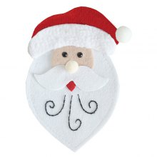 Cartoon Santa Style Forks Knives Holder Cute Flatware Cover