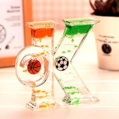 Stylish OK Pattern Oil Hourglass Decoration / Gift