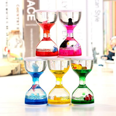 Acrylic Hourglass with Floating Animal for Decoration / Gift 1pc