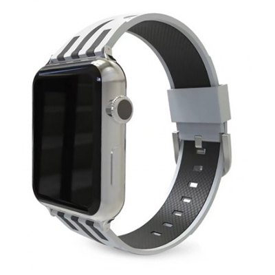 Trendy Stripe Silicone Watchband for 42mm Apple Watch