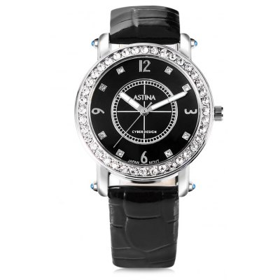 ASTINA BF - 0019 Attractive PU Band Women Quartz Watch