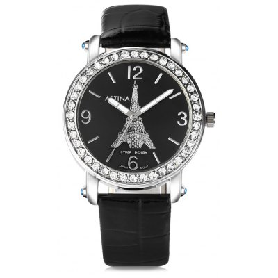 ASTINA BF - 0019 Stylish PU Strap Women Quartz Watch