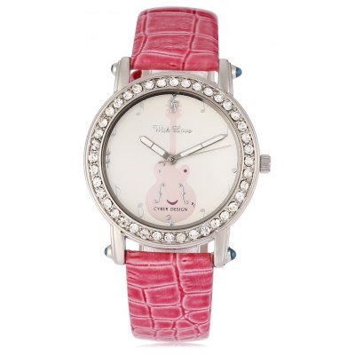ASTINA BF - 0019 Stylish PU Band Women Quartz Watch