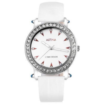 ASTINA BF - 0019 Unique PU Band Women Quartz Watch