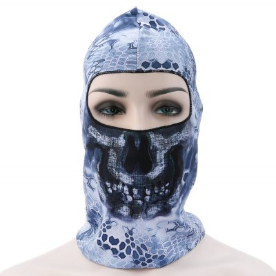 Breathable Cycling Patterned Full Face Cover Protective Mask