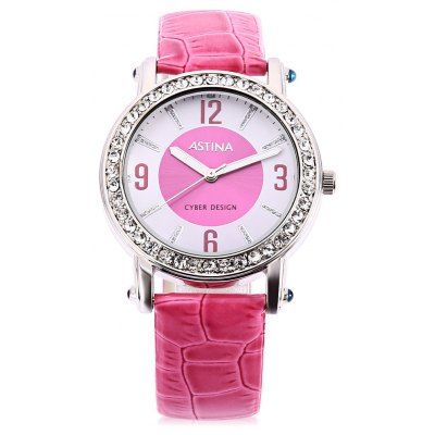 ASTINA BF - 0019 Cute PU Band Women Quartz Watch