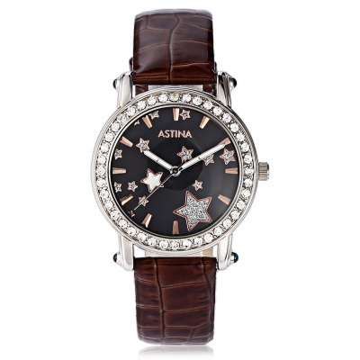 ASTINA BF - 0019 Fashionable Cute PU Strap Women Watch