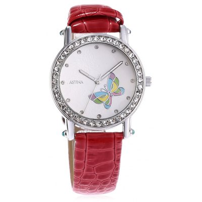 ASTINA BF - 0019 Fashionable PU Band Women Watch