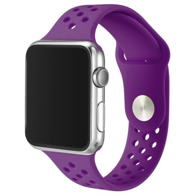 Breathable Silicone Watchband for 38mm Apple Watch