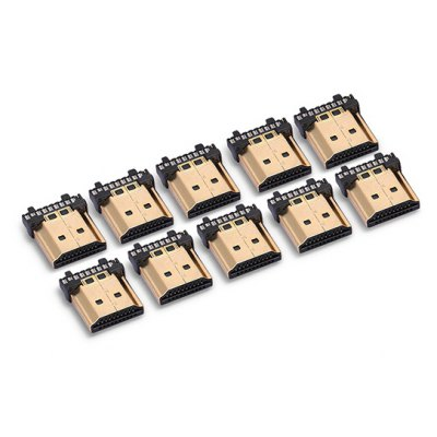 19 Pins A Type HDMI Male Connector Plug 10PCS