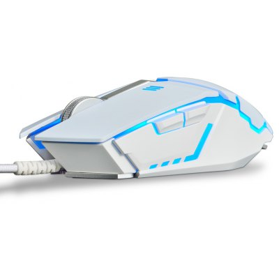 Ajazz GTC Wired Gaming Mouse with LED Light A5050 Engine