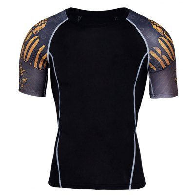 Breathable Sports Outdoor Elastic Male Short Sleeves T-shirt