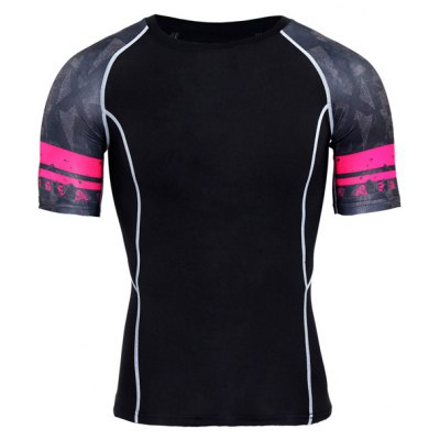 Quick Dry Tight Breathable Sports T-shirt for Men