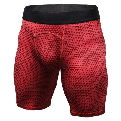 3D Printed Sports Tight Elastic Quick Dry Shorts for Men
