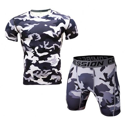 Male Tight Sports Exercising Breathable Set