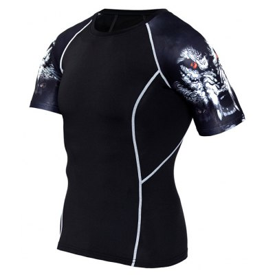 Quick Dry Tight Short Sleeves Basketball T-shirt for Men