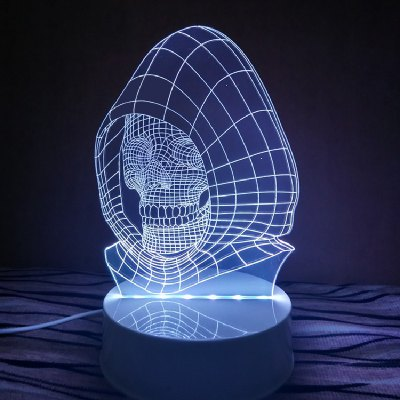 DUS 3D Lamp LED Table Night Light Skull With Hat