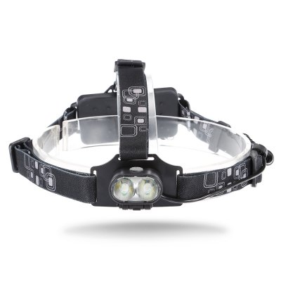 20W 6000K 800lm 2 XML - T6 LED Headlamp Battery Included