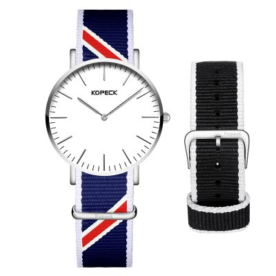 KOPECK 6001G Nylon Band Quartz Men Watch
