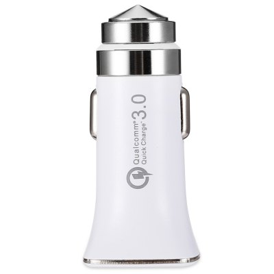 Quelima Multipurpose QC3.0 Car Charger with LED Indication