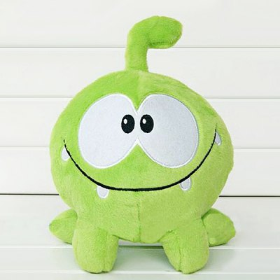 Short Plush Toy with Cartoon Frog Style