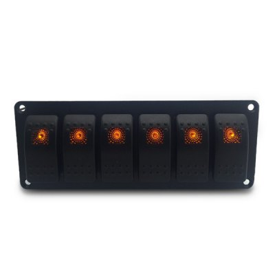 IZTOSS S2901 - Z 6 Buttons Switch Panel with LED Light Tip