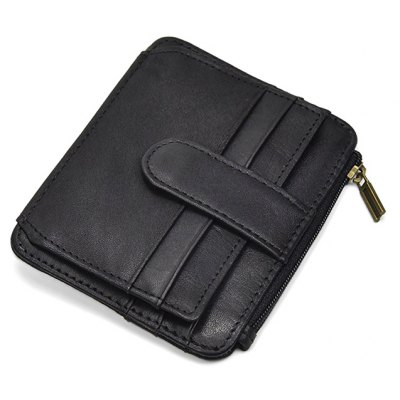 Men Minimalist Vintage Cowhide Leather Wallet