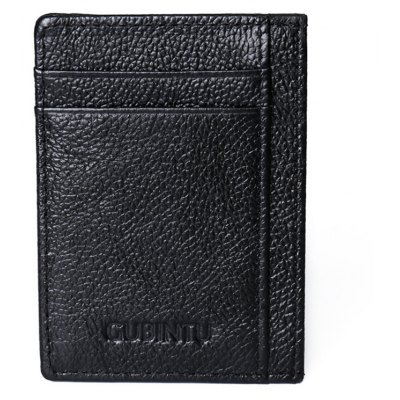 Men Slim Genuine Leather Card Holder
