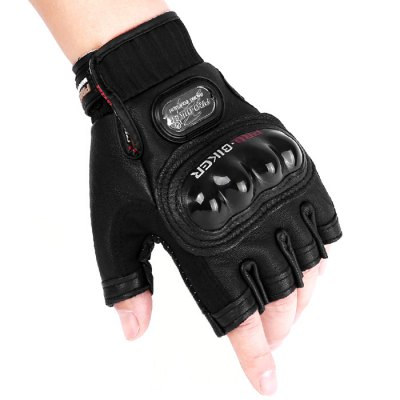 PROBIKER PRO - 04H Half Fingered Leather Gloves 1 Pair