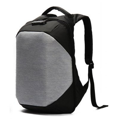 Men Chic Water-resistant Anti-theft Backpack with USB Port