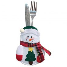 Christmas Flatware Snowman Style Fork Knife Cover 6pcs