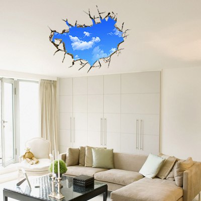 Cool DIY 3D Sky Motif Home Decoration Wall Stickers