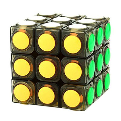 YJ 60mm 3 x 3 x 3 Colorful Bumping Magic Cube Puzzle Toy
