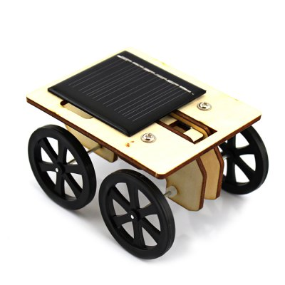 Creative DIY Wooden Solar 2-generation Toy Car