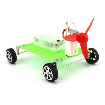 DIY Wind Car Puzzle Toy for Children